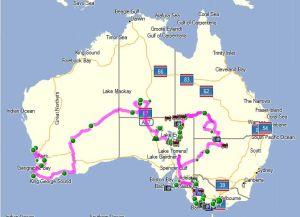Mit MapSource geplante Route